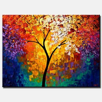 canvas print of abstract tree of life