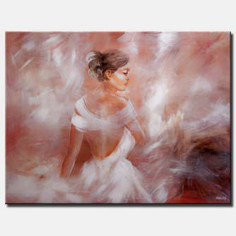 canvas print of ballerina dancer in soft colors
