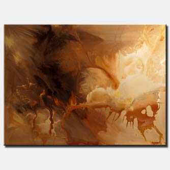 canvas print of brown beige abstract