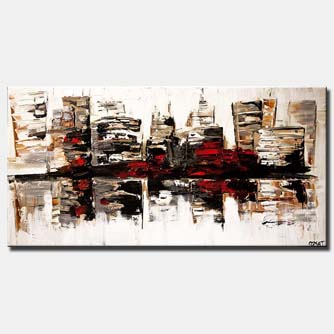 canvas print of abstract cityscape on white background
