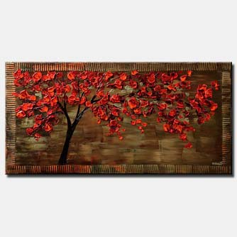 canvas print of a cherry tree