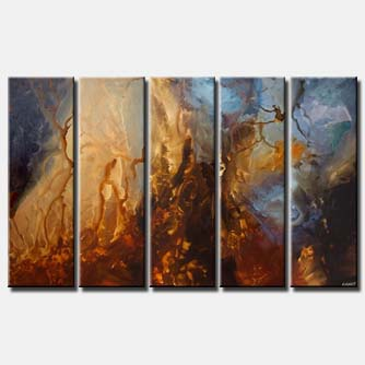 canvas print of  Planets Abstract Painting