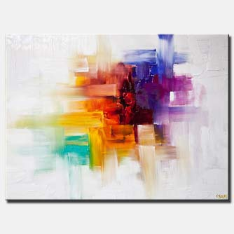canvas print of Colorful Contemporary abstract painting