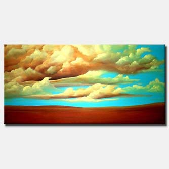 heaven clouds painting