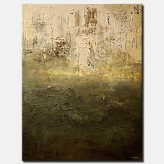 contemporary green textured abstract painting