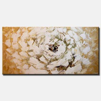 white flower modern palette knife
