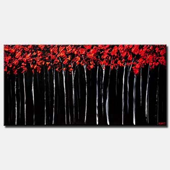 Forest painting - Red Forest
