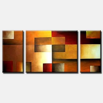 abstract squares painting