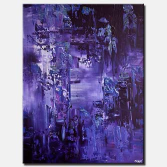 purple textured abstract painting