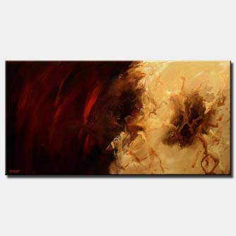 canvas print of red modern abstract painting
