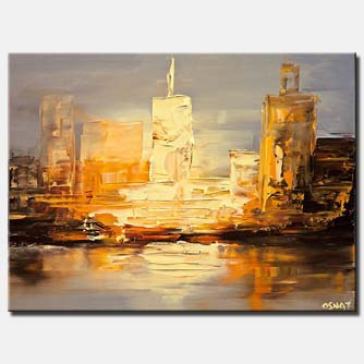 small city abstract painting_P1