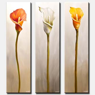 canvas print of calla lily flowes home decor floral art