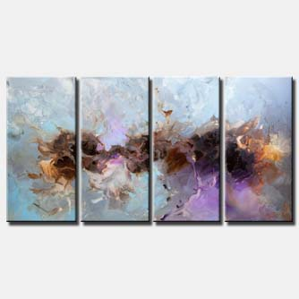 canvas print of gray blue lavender abstract painting