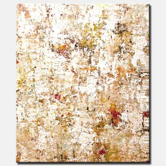 white modern abstract art heavy texture modern palette knife home decor