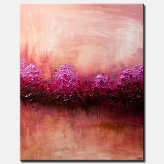 canvas print of large modern pink abstract art home decor