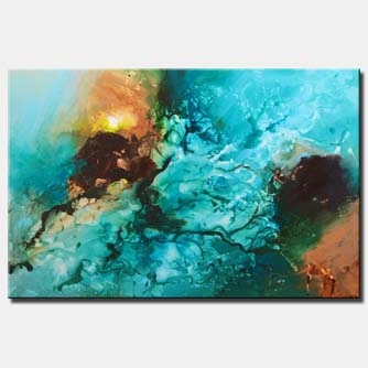 Blue abstract art wall hanging
