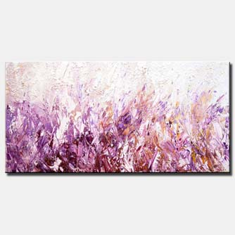 canvas print of huge textured modern blooming flowers painting