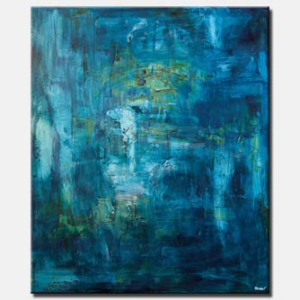 blue textured abstract art home decor
