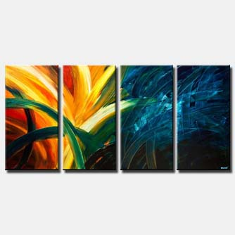 colorful abstract art home decor