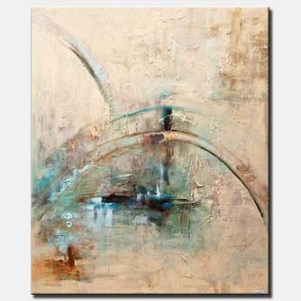 canvas print of big abstract art the dome textured modern abstract painting