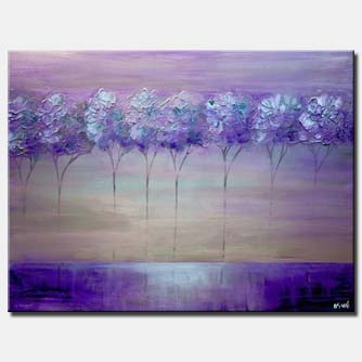 canvas print of purple lavander tree painting