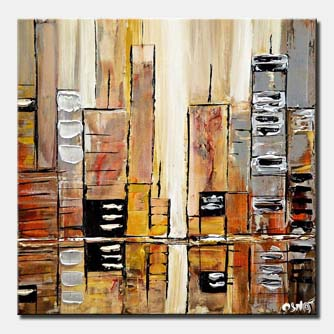 silver city abstract painting