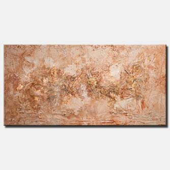 canvas print of copper textured abstract art