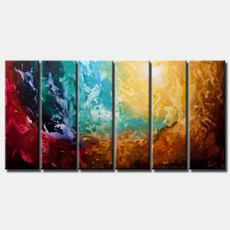 earth abstract art huge painting