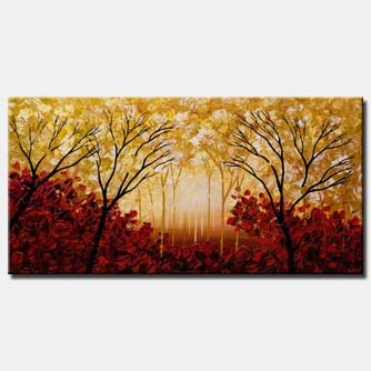 canvas print of abstract forest landscape