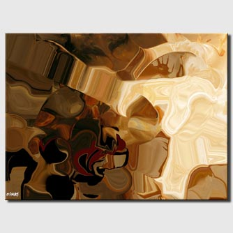 canvas print of brown abstract print on canvas