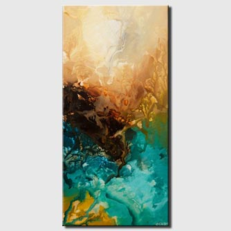 canvas print of turquoise abstract painting