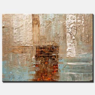 contemporary textured abstract art