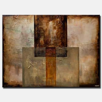 canvas print of Geometrical abstract art textured modern abstract painting