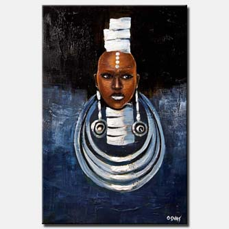 canvas print of African American painting