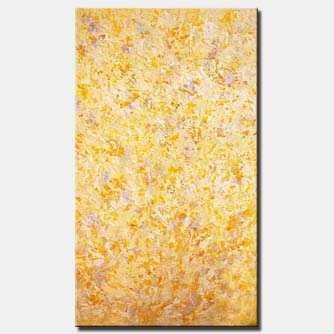 canvas print of yellow textured abstract painting