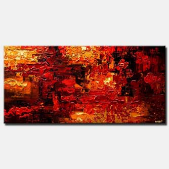 Abstract painting - Red Land