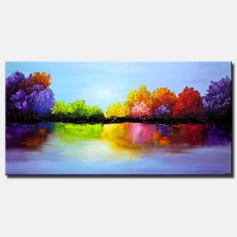 heaven painting colorful landscape painting