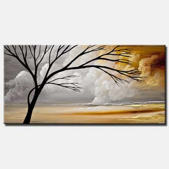 canvas print of modern landscape painting abstract art