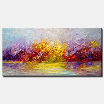 canvas print of colorful modern landscape abstract art