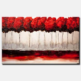 Landscape painting - Red Blossom