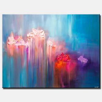 canvas print of abstract floral art
