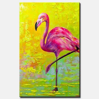 Pop Art Flamingo abstract painting