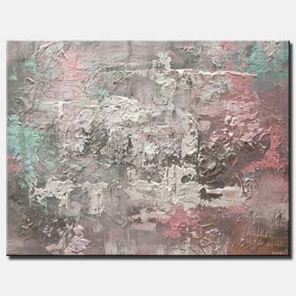 canvas print of heavy textured gray abstract art
