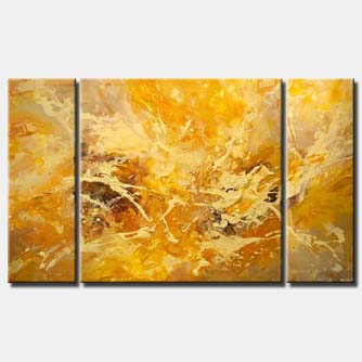 big yellow abstract art