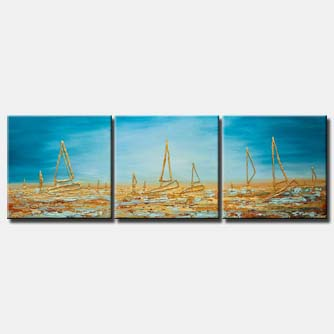 canvas print of sailboats painting