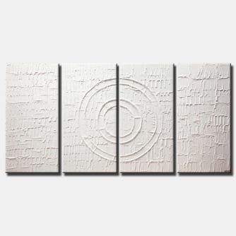 modern white textured abstract art