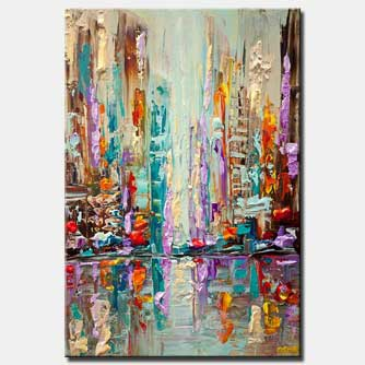 city carnival abstract painting