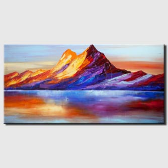canvas print of mountain abstract painting