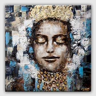 queen painting woman with a crown abstract painting
