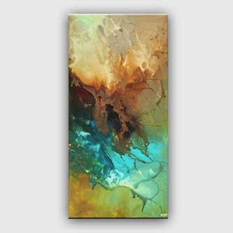 turquoise teal abstract painting